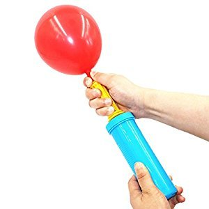 Hand Pump - Double Action Air Pumps for Balloons, Exercise Balls, Yoga Balls, Pool Floats