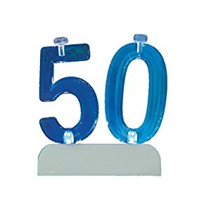 Flashing Number 50 Cake Topper & Birthday Candle Set, 5pc