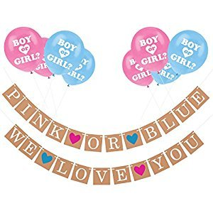 Gender Reveal Party Pack - Baby Shower Decorations - Pregnancy Announcement