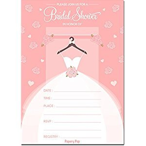 Bridal Shower Invitations with Envelopes (15 Count) - Wedding Shower Invitations