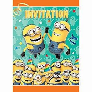 Despicable Me Invitations, 8ct