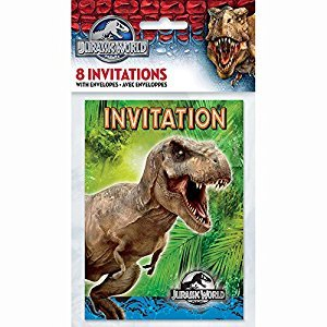 Jurassic World Invitations, 8ct