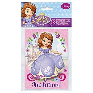Sofia The First Invitations, 8ct