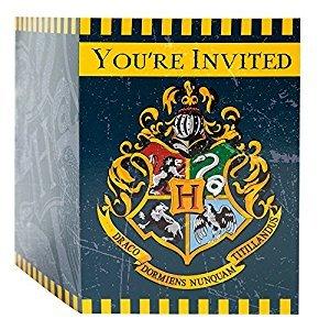 Unique Harry Potter Party Invitations, 8 Count