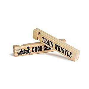 1 Dz 5.75 Wooden Train Whistles, Train Whistle for kids, Train Whistle Party Favors, Thomas The Train Themed Party Favors, Bulk Toys, Party Noisemakers, 12 Train Whistles