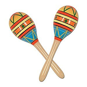 Beistle 60951-8 2-Pack Fiesta Fun Party Maracas, 8-Inch