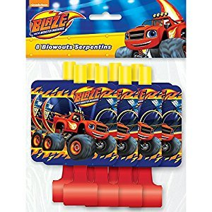 Blaze and The Monster Machines Party Blowers, 8ct