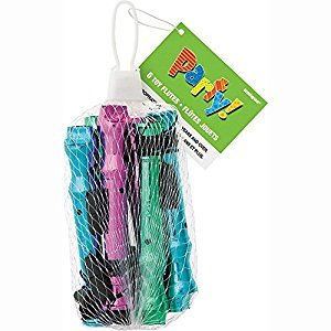 Metallic Flute Music Party Favors, Assorted 6ct