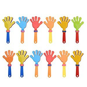 TOYMYTOY 12pcs Plastic Hand Clappers Noisemakers Toys Party Favors for Children Kids