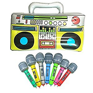 "16""Party Inflatable Boom Box + 2 Microphones"