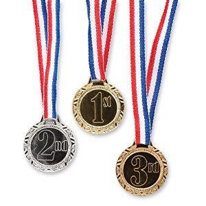 1st 2nd 3rd Place Award Medals - Classroom Rewards - 12 per Pack - From Fun365