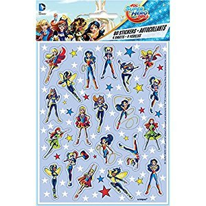 Super Hero Girls Sticker Sheets, 4ct