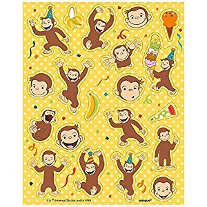Unique Curious George Sticker Sheets, 4Ct