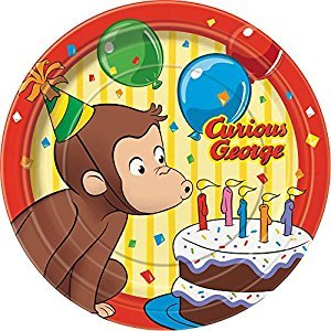Curious George Dessert Plates, 8ct