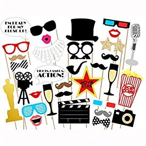 Movie - Hollywood Party Photo Booth Props Kit - 33 Count