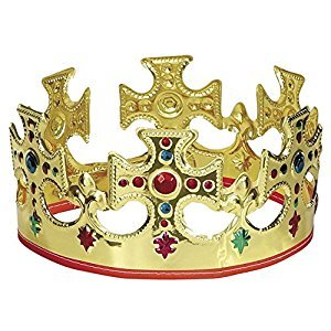 Adjustable Gold Plastic King Crown