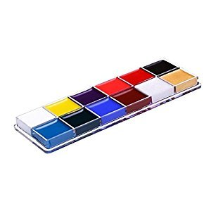 Face Painting Kits for Kids, niceEshop(TM)12 Color Non-Toxic Body & Face Painting Kits Professional Painting Palette Kits for Halloween/Christmas/Dress-up/Costume Parties/Carnivals/Celebrations/Cos-Plays/Schools