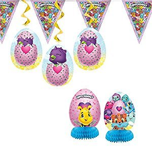 Unique 59309 Hatchimals Party Decoration Kit, 7 Piece