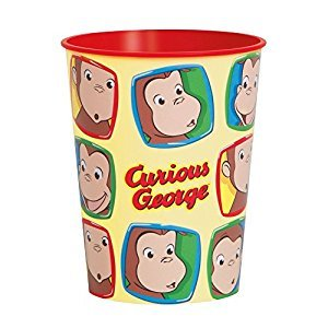 16oz Curious George Plastic Cup
