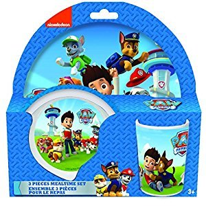 Paw Patrol 3-Piece Melamine Dinner Set