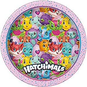 Unique 59305 Hatchimals Paper Party Plates, 8 Count