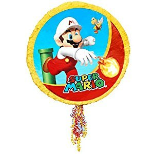 Super Mario Party Supplies - Pull-String Pinata