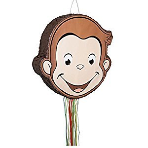 Unique Curious George Pinata, Pull String