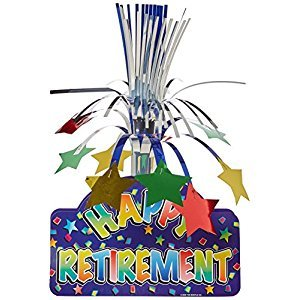 Beistle 50032 Happy Retirement Centerpiece, 13-Inch