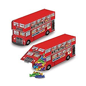 Beistle 54122 Double Decker Bus Centerpiece, 9 X 1/4-Inch, Multicolored