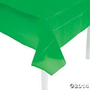 Economy Green Plastic Tablecover/Tablecloth ~ 54