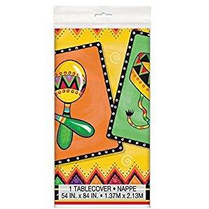 Fiesta Plastic Tablecloth, 84