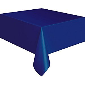 Navy Blue Plastic Tablecloth, 108