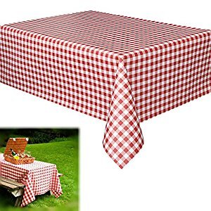 Red and White Checkered Gingham Tablecloth Runner for Holiday and Party Events 12 Pack