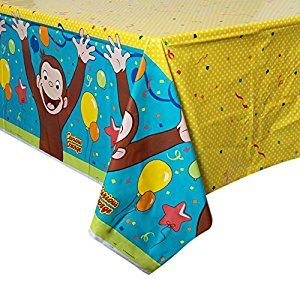 Unique Universal Curious George Plastic Tablecloth, 84
