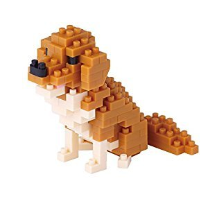 Kawada Nanoblock, NBC-168, Golden Retriever Micro Block Miniature Collection Puzzle