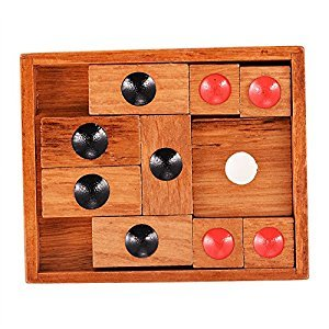 Twister.CK Wooden Klotski Sliding Block Puzzle.Handmade Wooden Puzzles,A Classic 3d Wooden Brain Teaser with a Lifetime Guarantee & Free Shipping,An Advanced Klotski Hua Raung Dao Puzzle for Adults.