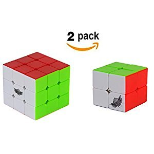 Cyclone Boys CubeSet 2x2 3x3 Stickerless Magic Speed Cube 2 pack