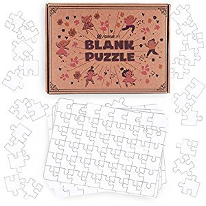 aGreatLife Blank Jigsaw Puzzles: Create and Color Your Own Puzzle - Perfect Art Toy for Kids and DIY Puzzle Activity Kit for All - with 8 Puzzles per Box & 48 pieces per Puzzle