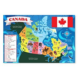 Melissa & Doug Canada Map Jumbo Jigsaw Floor Puzzle (48 pcs, 2 x 3 feet)