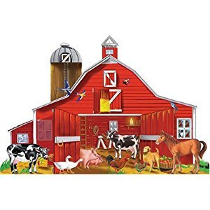 Melissa & Doug  Farm Friends Jumbo Jigsaw Floor Puzzle (32 pcs, 2 x 3 feet)