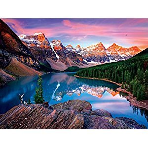 Buffalo Games Reflections: Mountains on Fire Jigsaw Puzzle (750 Piece)