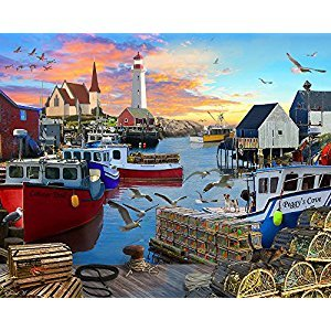 Fishing Cove Jigsaw Puzzle 1000 Piece
