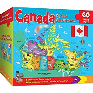 Masterpieces Canada Map Jigsaw Puzzle (60-Piece)