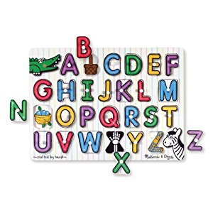 Melissa & Doug English Alphabet Peg Puzzle (UC)