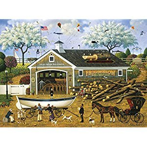 Buffalo Games 11450-Charles Wysocki-Dahlia Makes a Dory Deal-1000 Piece Jigsaw Puzzle
