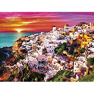 Buffalo Games 1429-Signature Collection-Dreamy Santorini-1000 Piece Jigsaw Puzzle