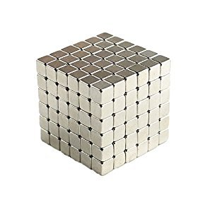 Magnetic Cube, Magnetic Sculpture Toy , adult Fun Office Toy (silver) 3mm