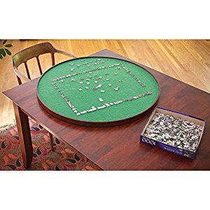 Round Jigsaw Puzzle Spinner-Innovative Lazy Susan Puzzle Assembly Surface Fits most 1000 pc Puzzles - Spin Puzzle to Reach Sections You Need