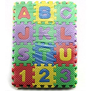 36-Piece Foam Mats Alphabet and Number Puzzle Mats Crawling Mats for Kids NON-TOXIC 36 Piece Children Play Exercise Mat Puzzle Play Mat for Kids Toddlers
