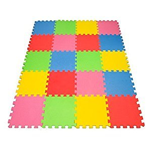 Angels 20 Pack Multi Puzzle Tile Mat Multi Use Colorful and Fun For Boys, Girls and Babies